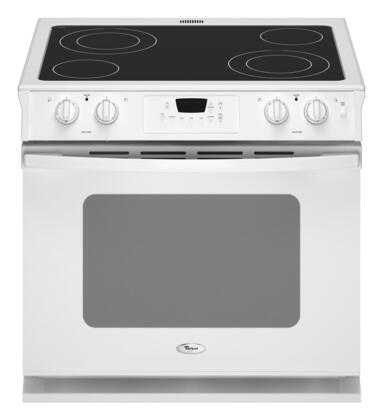 Whirlpool WDE350LVQ  Slide-in Electric Range with Smoothtop Cooktop, 4.5 cu. ft. Primary Oven Capacity, in White