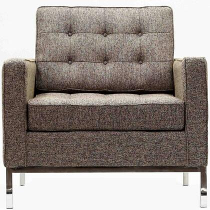 Modway EEI184OAT Loft Series Fabric Armchair with Metal Frame in Oatmeal