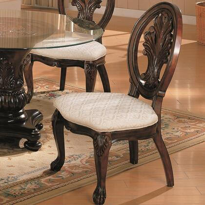 Coaster 101032 Tabitha Series Traditional Fabric Wood Frame Dining Room Chair