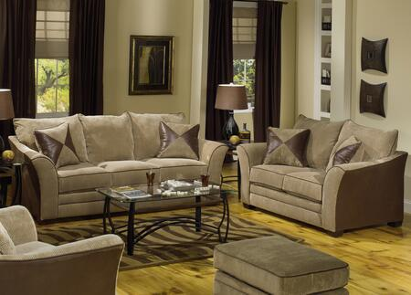 Jackson Furniture 3262K3 Contemporary Corded Micro-Suede Fabric Living Room Set