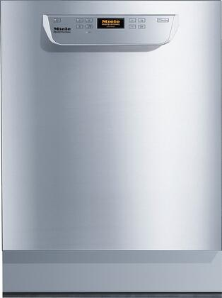 """Miele PG8056x 24"""" ADA Compliant Professional Series Dishwasher With 40 Cycles Per Day, Built-In Water Softener, And 10 Wash Programs in Stainless Steel"""
