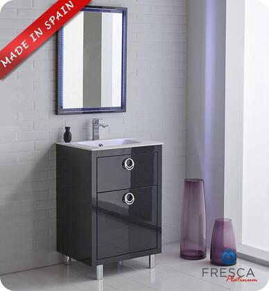 """Fresca Platinum Due FPVN78XXCB XX"""" Bathroom Vanity with 3 Soft Closing Drawers, Chrome Plated Legs and Integrated Ceramic Countertop and Sink in Glossy Cobalt"""