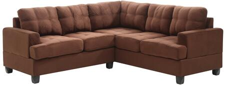 Glory Furniture G512BSC G510 Series Stationary Suede Sofa