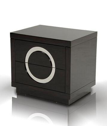 VIG Furniture VGUNAA31859EBONY A & X Ovidius Series Rectangular Wood Night Stand