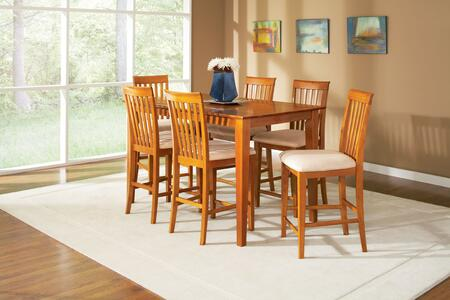 "Atlantic Furniture SHAKER4260BTPT Shaker Series 42x60 Butterfly Top Pub Height Dining Table (Includes 18"" Leaf):"