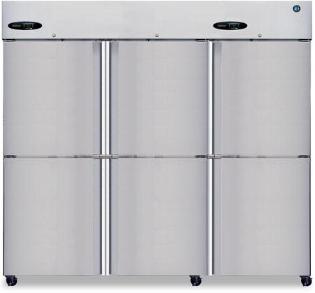 "Hoshizaki CF3SxS 83"" Commercial Series Upright Three Section Reach-In Freezer with 73.3 cu. ft. Capacity, Stainless Steel Interior, and Unique Ducted Air Distribution System: Stainless Steel"