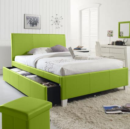 Fantasia Full Size Bed with Trundle in Green