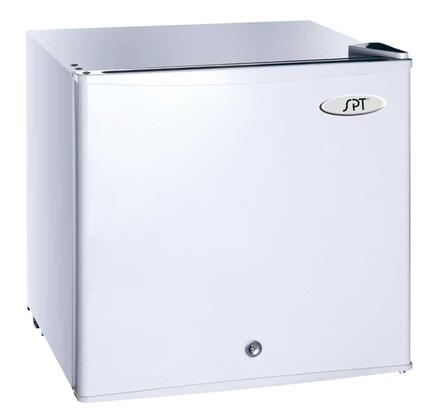 """Sunpentown UF114x 19"""" Upright Freezer with 1.1 cu. ft. Capacity, Manual Defrost, Lock and Key, Reversible Door, Mechanical Adjustable Thermostat, Recessed Handle, Front Leveling Legs and Flush Back in"""