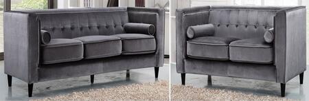 Meridian 642GRYSL Taylor Living Room Sets