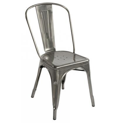 Fine Mod Imports FMI10014GUNMETAL Talix Series  Metal Frame  Patio Chair