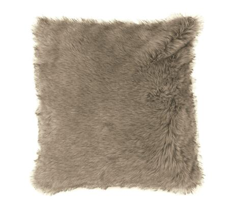 """Signature Design by Ashley Ibrahim Collection A1000256X 20"""" x 20"""" Pillow with Faux Fur Fabric, Polyester Cover and Fiber Filler in Tan"""