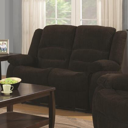 Coaster 601462 Gordon Series Fabric Reclining with Wood Frame Loveseat