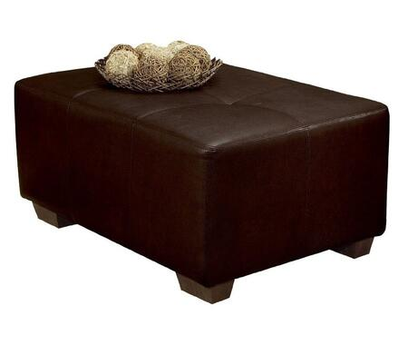 Acme Furniture 00104 Madrid Series Contemporary Bycast Leather Wood Frame Ottoman