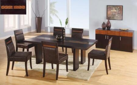 Global Furniture USA AmandaDTG072DCBR5pc Global Furniture US