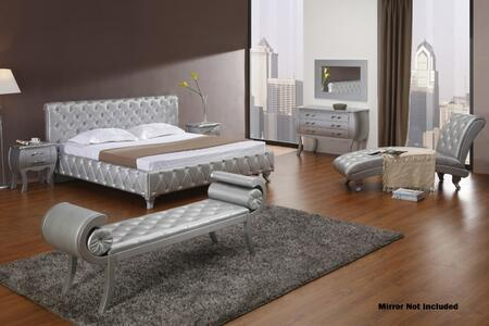 VIG Furniture VGKCMONTEPLATINUMCK6PC Monte Carlo California