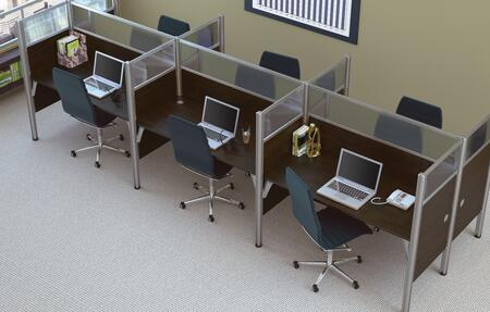Bestar Furniture 100873D Pro-Biz Six workstation