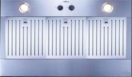 Arezzo 46in Stainless Steel Insert Range Hood: Standard Front View