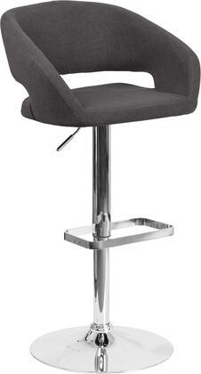 Flash Furniture CH122070BKFABGG Residential Fabric Upholstered Bar Stool