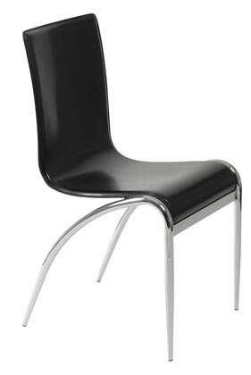 Euro Style 03181 Grace Series Leather Metal Frame Dining Room Chair