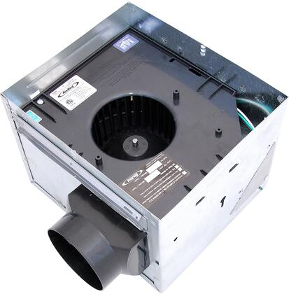 Air King AKxH Exhaust Fan with x CFM, 23 Gauge Galvanized Steel Housing, Polymeric Grill, and Humidity Sensor, in White