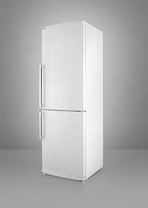 Summit FFBF280WIM  Counter Depth Bottom Freezer Refrigerator with 13.81 cu. ft. Total Capacity 4 Glass Shelves