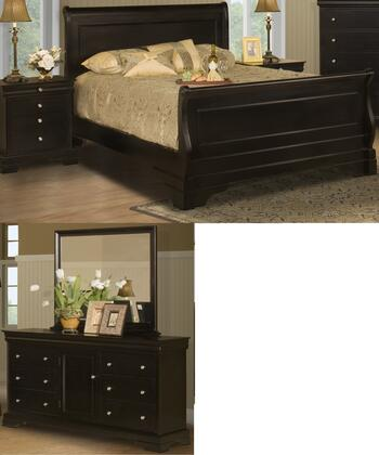 New Classic Home Furnishings 00013ESBDMN Belle Rose King Bed