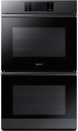 "Dacor DOB30M977D 30"" Modernist Series Electric Double Wall Oven with 4.8 Cu. Ft. Oven Capacity, Four-Part Dual Pure Convection, Convection Roast, Steam Bake, SoftShut Oven Doors, Delay Start, and Sabbath Mode, in"