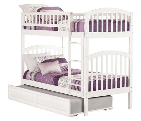 Atlantic Furniture Richland AB6413 Twin Over Twin Bunk Bed With Raised Panel Trundle Bed