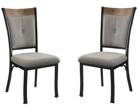 Acme Furniture 73022 Zeke Series Fabric Metal Frame Dining Room Chair