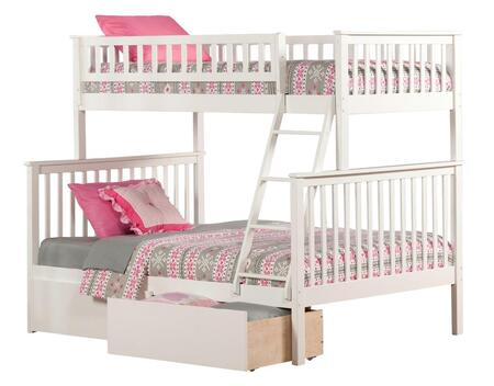 Atlantic Furniture AB5624 Woodland Bunk Bed Twin Over Full With Urban Bed Drawers