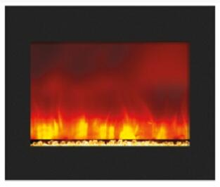 Amantii ZECL394134 Wall Mountable Electric Fireplace