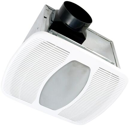 Air King AKFxH Exhaust Fan with light, 23 Gauge Galvanized Steel Housing, Polymeric Grill, and Humidity Sensor in White