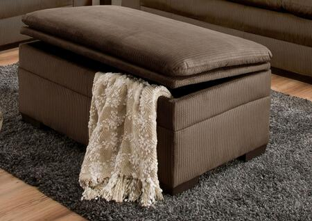 Simmons Upholstery 3685095LAKEWOODCAPPUCCINO Lakewood Series Contemporary Fabric Wood Frame Ottoman