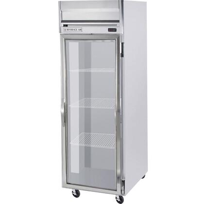 Beverage Air HRS1-1 One Section [Solid Door] Reach-In Refrigerator, 24 cu.ft. capacity, Stainless Steel Exterior and Interior Finish