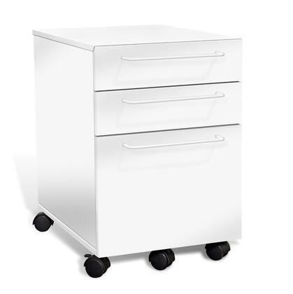 "Unique Furniture 211WH 16"" Wood Modern File Cabinet"