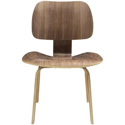 "Modway EEI-620 Fathom 17"" Dining Chair with Five Layered Construction, Plywood with Oak Effect Veneer, and Seat Angled for Maximal Comfort"
