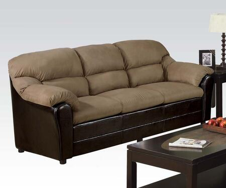 Acme Furniture 15140 Connell Series Stationary Microfiber Sofa