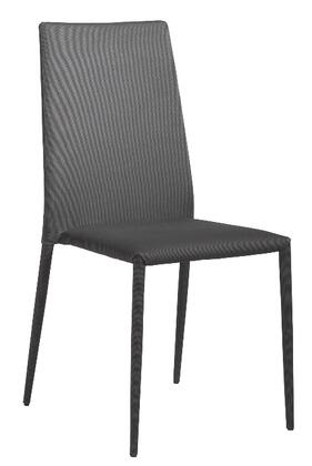 Euro Style 02334GRY  Fabric Metal Frame Accent Chair