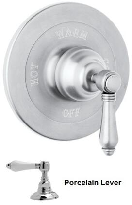 Rohl A1400LP Italian Country Bath Collection Pressure Balance Trim without Diverter with Porcelain Lever in