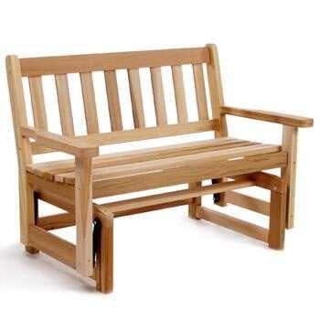 All Things Cedar CG45U Traditional Cedar Frame Armed Patio Benches