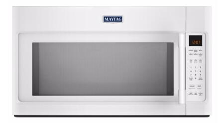 "Maytag MMV4205FW 30"" Over The Range Microwave with 2.0 cu. ft. Capacity, Sensor Cooking, Interior Cooking Desk, Multiple Speed Exhaust Fan, Mesh Grease Filter, Charcoal Odor Filter and Stainless Steel Cavity, in"