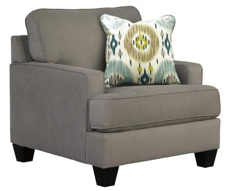 Benchcraft 9660X20 Brileigh Chair with Plush Back and Seat Cushion, One Accent Pillow and Reversible Coil Cushion in
