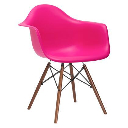 EdgeMod EM110WALFUS Vortex Series Modern Wood Frame Dining Room Chair