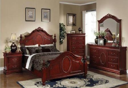 Acme Furniture 11854DX Classique Traditional Bed in Cherry, X Size