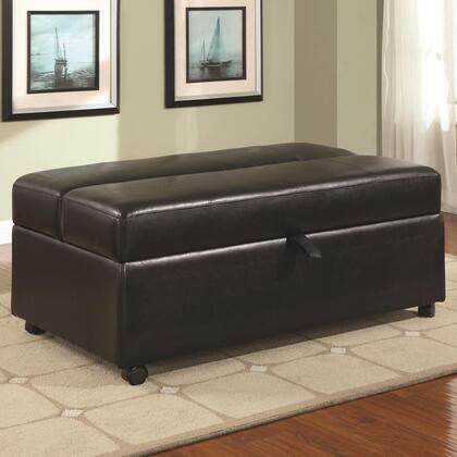 Coaster 500875 Ottomans Series Casual Leather Ottoman