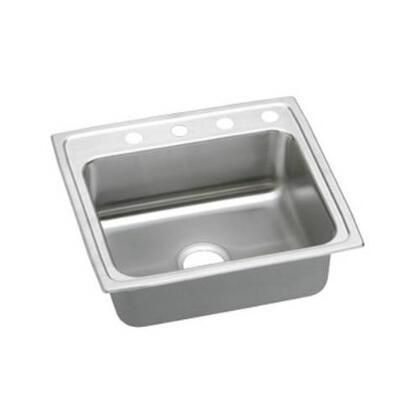 """Elkay LRAD221960 22"""" Top Mount ADA Compliant Single Bowl 18-Gauge Stainless Steel Sink"""