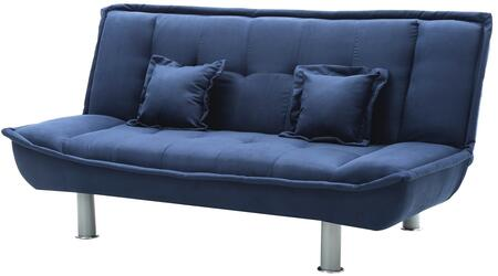 """Glory Furniture G500 Collection 74"""" Sofa Bed with Matching Throw Pillows, Polished Metal Legs, Tufted Back and Suede Upholstery in"""