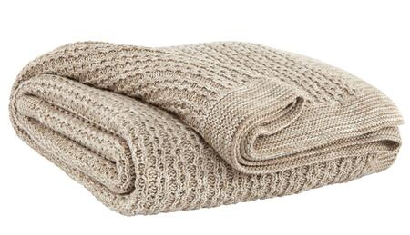 Natural Color Throw Blanket