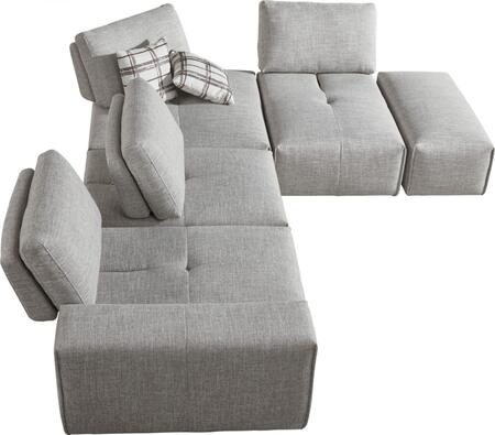 Vig Furniture Divani Casa Platte Fabric Sectional Sofa Vgmb1675gry