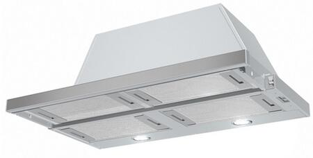 """Faber CRIS3X X"""" Cristral SS Under Cabinet Hood with 300 CFM, 63 dBA, 3 Speed Slide Control, 6"""" Round Ducting, Aluminum Mesh Grease Filters and 2 Halogen Lights, in Stainless Steel"""
